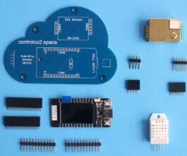 Control CO2 Bouwpakket <br/>(CO2, temperatuur en relatieve vochtigheid sensor)
