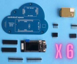 6 x Control CO2 Bouwpakket <br/>(CO2 sensor)